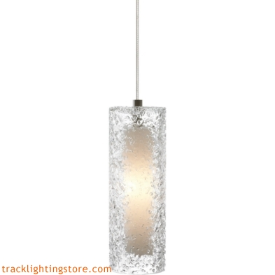 Mini Rock Candy Cylinder Pendant - Clear - LED