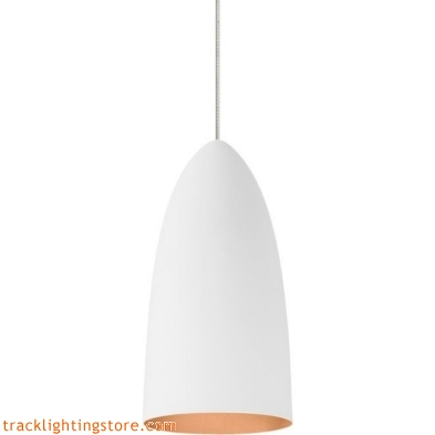 Mini- Signal Pendant - Rubberized White/Copper - Halogen