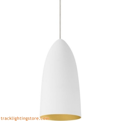 Mini- Signal Pendant - Rubberized White/Gold - Halogen