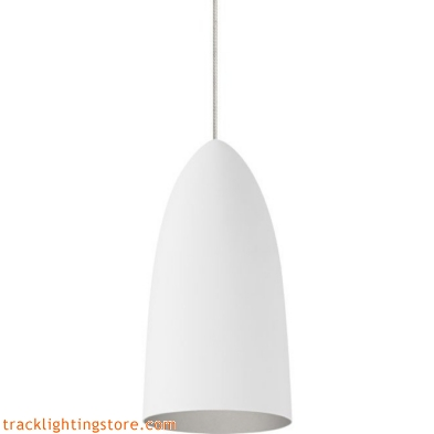 Mini- Signal Pendant - Rubberized White/Platinum - Halogen