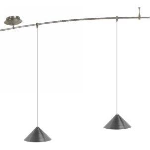4 Foot 150 Watt Monorail Kit with 2 Small Sky Pendants in Satin Nickel