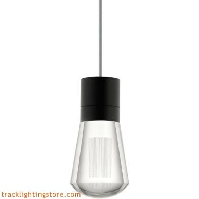 Alva Pendant - Clear Crystal - Gray Cord - LED 90 CRI 3000K