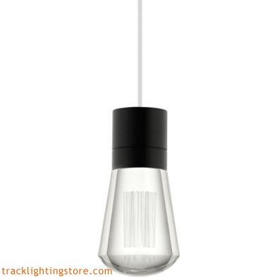 Alva Pendant - Clear Crystal - White Cord - LED 90 CRI 2200K