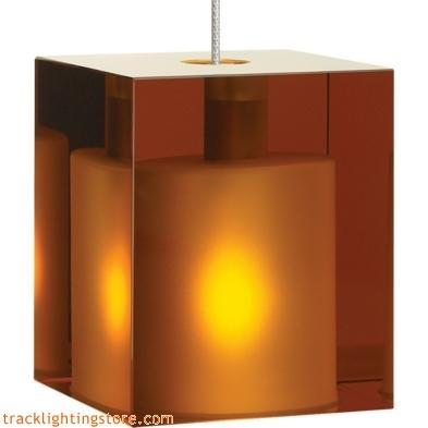 Cube Pendant - Amber