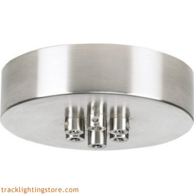 Round Mini Canopy for Tech Line Voltage Pendants - 7 Port Round