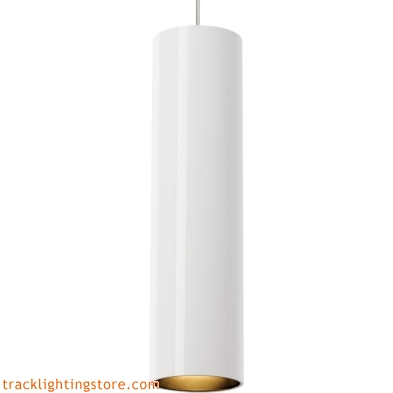 Piper Pendant - White - Satin Nickel
