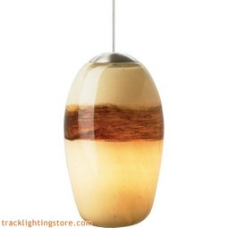 Emi Pendant - Ivory/Brown