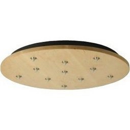 Fusion Jack Wood Canopy 11 Light Round - Maple