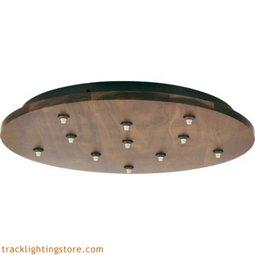 Fusion Jack Wood Canopy 11 Light Round - Walnut