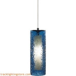 Mini Rock Candy Cylinder Pendant - Steel Blue - LED