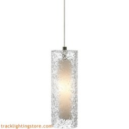 Mini Rock Candy Cylinder Pendant - Clear