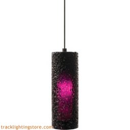 Mini Rock Candy Cylinder Pendant - Amethyst - LED