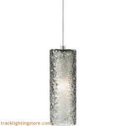 Mini Rock Candy Cylinder Pendant - Smoke - LED