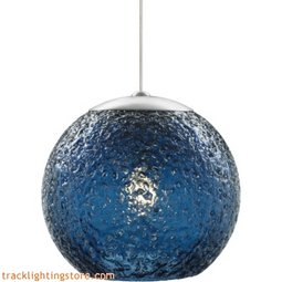 Mini Rock Candy Round Pendant - Steel Blue