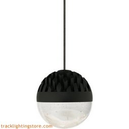 Sphere Low-Voltage Pendant - Rubberized Black - Cast Clear - LED