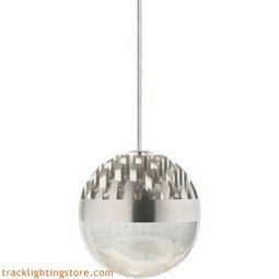 Sphere Low-Voltage Pendant - Satin Nickel - Cast Clear - LED