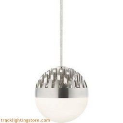 Sphere Low-Voltage Pendant - Satin Nickel - Frost - LED