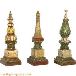 Set of 3 Sphere Tip Finials