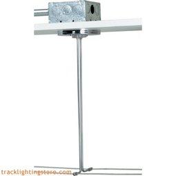 4 Inch Round Through-ceiling Hardwire Powerfeed with 300 Watt Remote Transformer - white with satin nickel feed