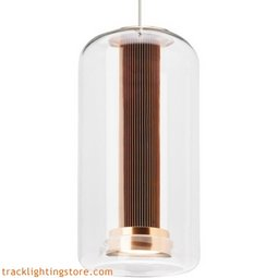 Amira Pendant - Clear/Copper - LED Warm DIM 3000K - 2200K
