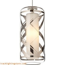 Ecran Pendant - Clear-polished Platinum Plaid