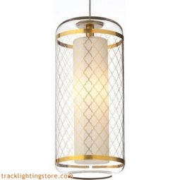 Ecran Pendant - Clear-polished Gold Moroccan