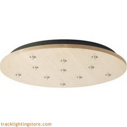 Line Low Voltage Round Canopy 11 Port - LED - Maple