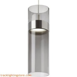 Manette Grande Pendant - Tranparent Smoke Glass/Clear Glass - LED