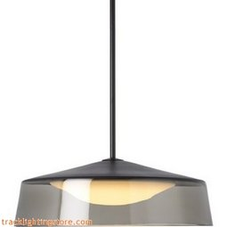Masque Grande Pendant - Smoke/Black - LED (277 Volt)