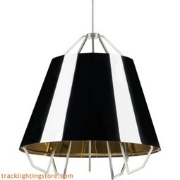 Mini Artic Pendant - Gloss Black - Gold Shade
