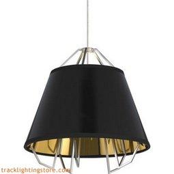 Mini Artic Pendant - Gloss Black - Gold Shade - LED 90 CRI 3000K