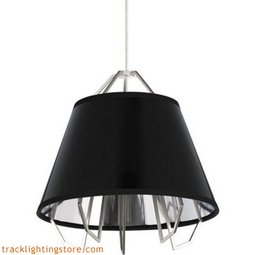 Mini Artic Pendant - Gloss Black - Silver Shade - LED 90 CRI 3000K