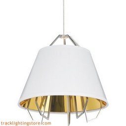 Mini Artic Pendant - Gloss White - Gold Shade - LED 90 CRI 3000K