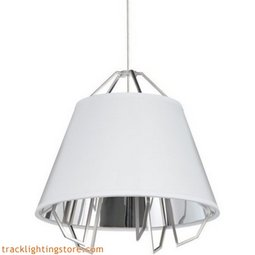 Mini Artic Pendant - Gloss White - Silver Shade - LED 90 CRI 3000K