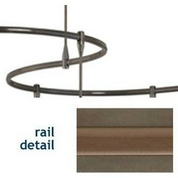 Tech Monorail - 48 Inch length - Brown Accent
