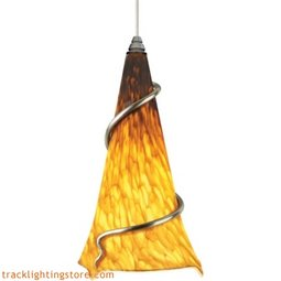 Ovation Pendant - Tahoe Pine Amber/Red Ball