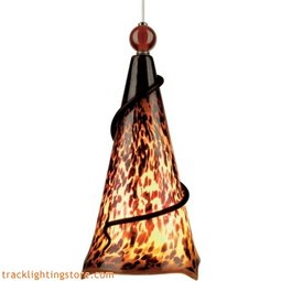 Ovation Pendant - Tortoise Shell/Red Ball - Compact Fluorescent (277 Volt)
