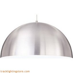 Powell Street Pendant - Satin Nickel/White - Incandescent