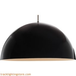 Powell Street Pendant - Gloss Black/White - Incandescent