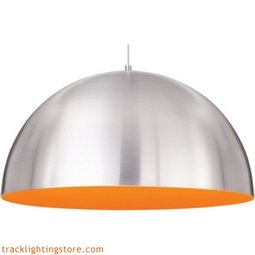 Powell Street Pendant - Satin Nickel/Sunrise Orange - Incandescent