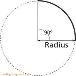 90 degree Pre-Bent T-Trak - 36 Inch Radius