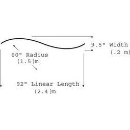 S-Shape Pre-Bent T-Trak - 60 Inch Radius