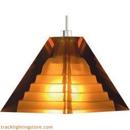 Pyramid Pendant - Amber