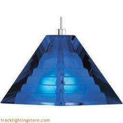 Pyramid Pendant - Cobalt